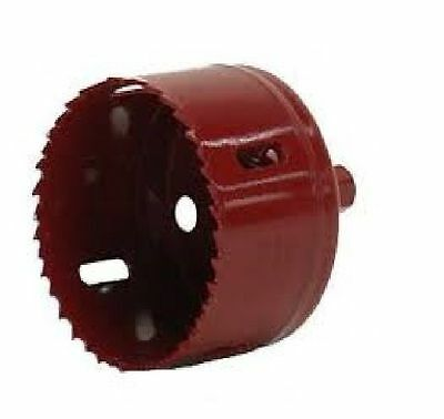 """MORSE Hole Saw w/ Attached Arbor 3"""" Diameter Red TA48"""