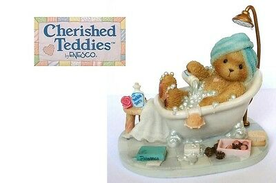 Cherished Teddies, Mom It's Your Day To Relax, 116929, Mint In Box, Mother's Day