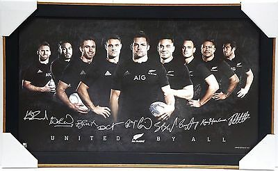 All Blacks Signed Rugby 2015 World Cup Limited Edition Print Framed New Zealand