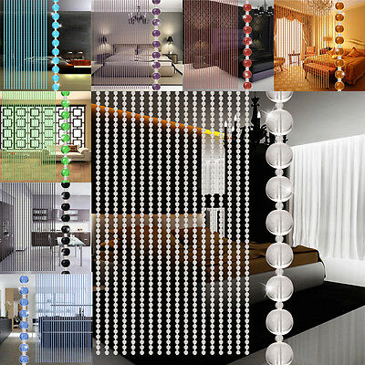 Crystal Glass Bead Curtain Living Room Bedroom Window Door Wedding Decor Hot