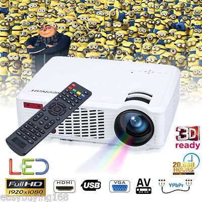 HD LED 3500 Lumens 1080P Heimkino Beamer Projector HDMI/USB VGA TV/ ATV YPBPR DE