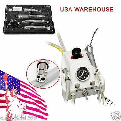 USA Dental Portable Turbine Unit SN4 + NSK Style High/Low Speed Handpiece Kit 4H