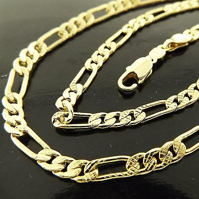 Necklace Chain Genuine Real 18K Yellow G/f Gold Solid Antique Filigree Design
