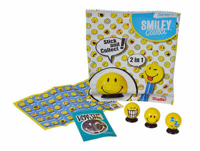 Smiley Collect Serie I Smilie Smilies mit Saugnapf Sticker und Booklet