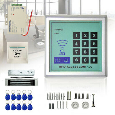 125KHz RFID ID Keyfobs One Door Access Control Machine Kit Electric Strike Lock