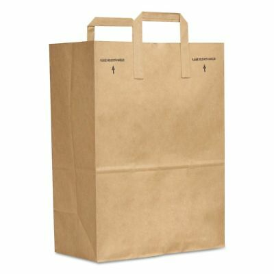 General 1/6 BBL Brown Paper Grocery Bags with Handles - BAGSK1670EZ300