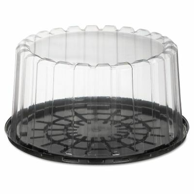 Pactiv ShowCake Two-Piece Cake Containers, Plastic, Black/Clear, - PCTYEH89901