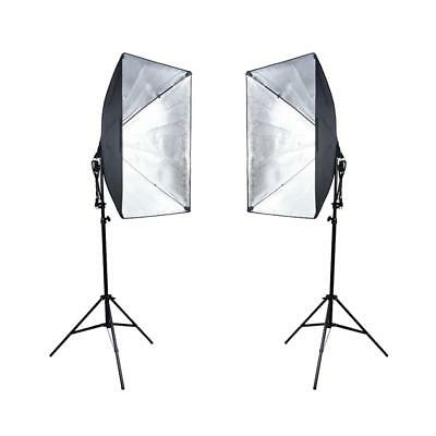 2pcs Photography Studio LED Continuous Lighting Photo Softbox Light Stand