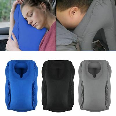Au Inflatable Air Cushion Travel Pillow Head Neck Sleep Support Camping Flight