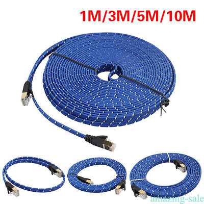 1 3 5 10M Cat.7 RJ45 Thin Flat Ethernet Network Cable Patch Internet Lan lot IP3