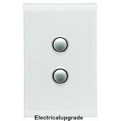 Clipsal Switches Saturn Offer Two Gang Led Push Button 4062PBL PW( Pure White)