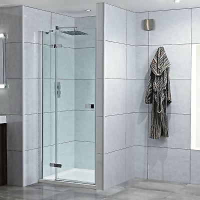 "Recessed ""Single Hinged Door"" Easy Clean Shower Enclosures (6 Sizes - L or R)"