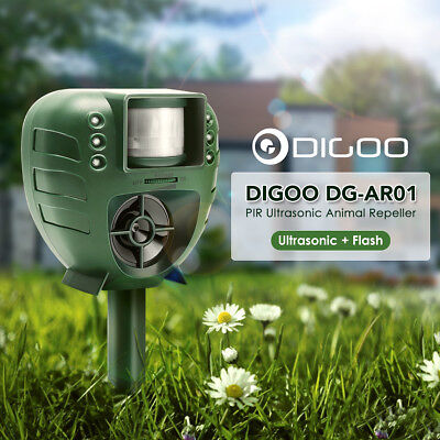 Digoo Solar ScareCrow Motion Activated Water Animal Repeller Deterrent Sprinkler