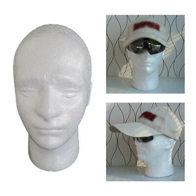 Male Mannequin Salon Doll Heads Foam Manikin Head Model Glasses Display Stand