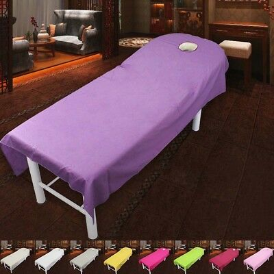 Beauty Massage Bed Table Cotton Cover Salon Spa Couch Sheet Bedding With Hole