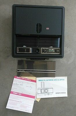 MINOLTA Autopak AFT/2 35mm SLIDE PROJECTOR Zoom Lens Tested, fully functional