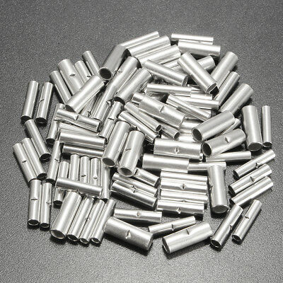 100Pcs 3 Kinds 22-10 AWG Copper Tinned Crimp Terminal Butt Splice Connecters Set