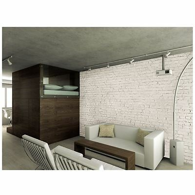 White Brick Effect Wall Mural New Modern Feature Wall Free P+P