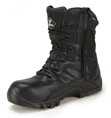 Cobra Non Safety Leather Tactical High Boot,Side Zip,Police,Fire,Like Magnum