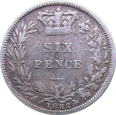 1837 To 1901 Victoria Silver Sixpences Choice Of Year / Date