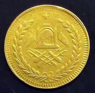 AH 1319 (1898)-AFGHANISTAN TILLA (10 Rupees) XF- Gold Coin   KM#: 835