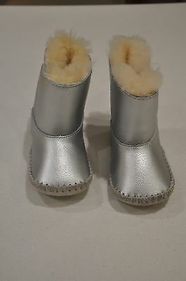 UGG Baby Silver Boots Size 0.5