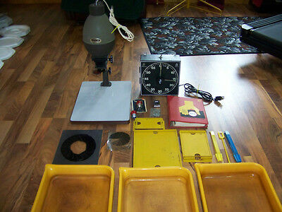 Photography Darkroom Equipment Accura Enlarger Gra Lab Timer Plates An More