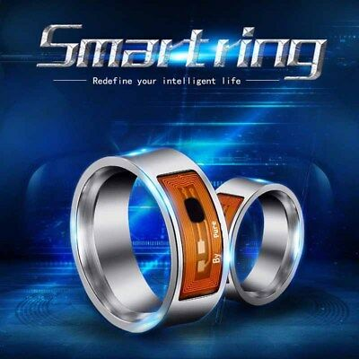NFC Smart Magic Black Ring Wearable For Hawei Phone Android Stainless steel