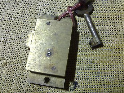 small surface mounted brass cabinet, 50 x 25 mm, cupboard lock (DP72)