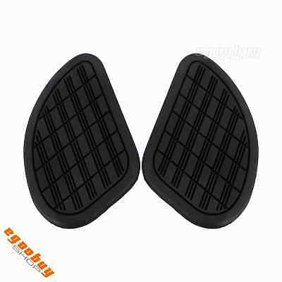 Motorcycle Rubber Gas Fuel Tank Knee Pad Protector Sticker For Cafe Racer Bike