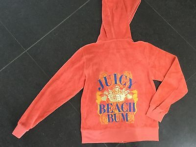 NWT Juicy Couture New & Genuine Girls Age 8 Orange Cotton Hoody With Juicy Logos