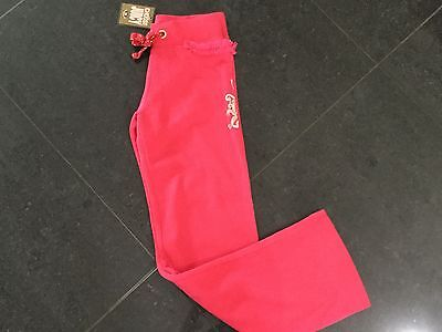NWT Juicy Couture New & Genuine Girls Age 8 Pink Cotton Pants With Juicy Logo
