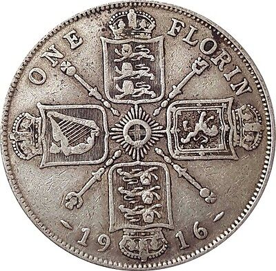 1911 To 1919 George V Silver Florin Choice Of Year / Date
