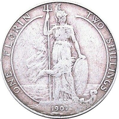 1902 To 1910 Edward Vii Silver Florin Choice Of Year / Date