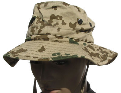 GERMAN ARMY BUSH HAT in DESERT TROPENTARN CAMO GENUINE ISSUE