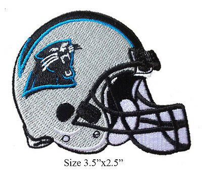 huge selection of bbdac 76a01 CAROLINA PANTHERS HELMET Logo Embroidered Iron On Patch.