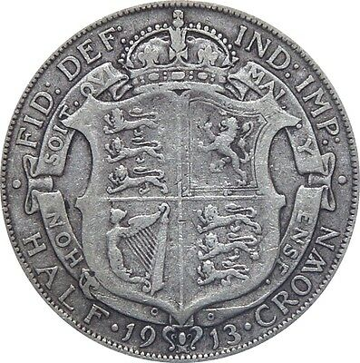 1911 To 1919 George V Silver Half Crown Choice Of Year / Date