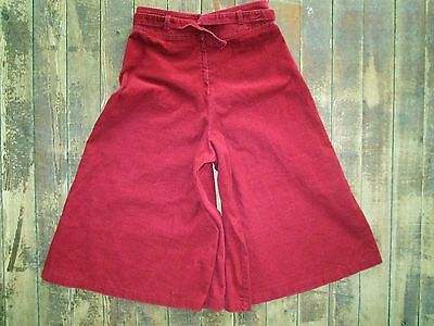VTG U-Too California Pants Gaucho Shorts Capri Cropped Wide Hippy Flare 26x17