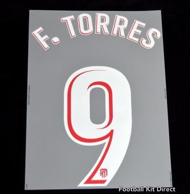 Atletico Madrid F.torres 9 Football Shirt Name/Number Set Home 2017/18