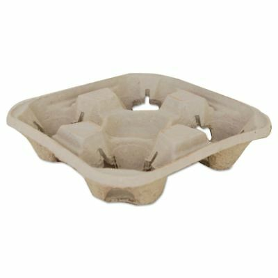 SCT Molded Fiber Drink Carriers, 8-32oz Cups, 4-Cup Tray, 9 1/4x9 - SCH18950