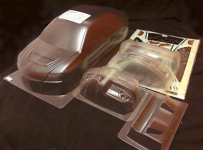 RC 1/10 EP Car 195mm Clear Unpainted Body Shell bodies Evo 9 Fits HPI, Tamiya