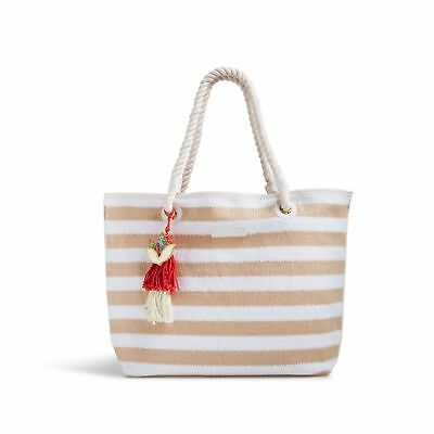 Vera Bradley Striped Beach Tote Bag in Natural Stripe