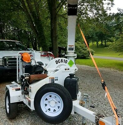 2012 ALTEC DC610 Portable Wood Chipper 6 inch with 330 Hours