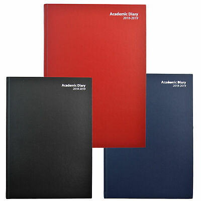 2017&2018 Mid Year A4 Size Academic Week To View/day A Page Diary - Hardback