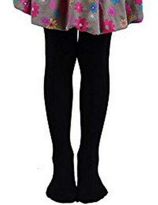Size 2 - 3  4 - 6 11 - 14 Black Grey Forest Green Mango Cotton Rich Girl Tights