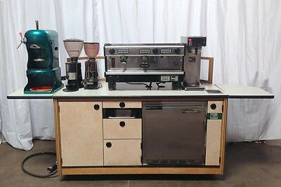 Coffee Cart Comes W/ Espresso Machine, Coffee Kiosk, Espresso Cart, Coffee Stand