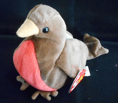 """Ty Beanie Baby """"Early"""" Robin Bird ~ Retired (1997) ~ NEW with Tags"""