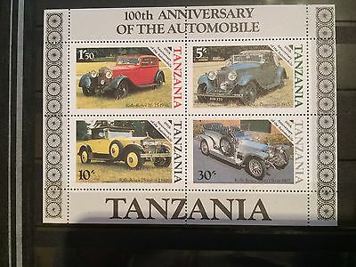Briefmarken Block -Welt Afrika Tanzania Motiv Oldtimer Autos Stamps World Cars