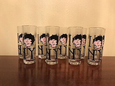 Set Of 9 Betty Boop Tall Shooter Shot Glasses