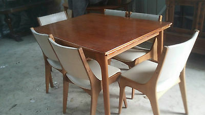 Dining  Suite Table & 6 Chairs, Vintage Retro, Danish